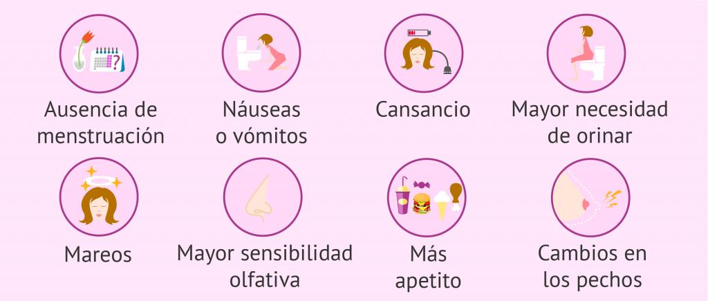 principales síntomas de embarazo