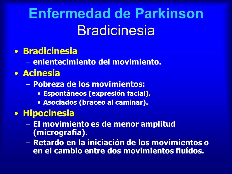 sintomas caracteristicos de parkinson
