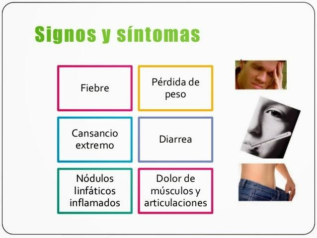 sintomas de vih a sida