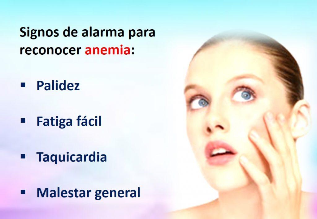 anemia síntomas causas