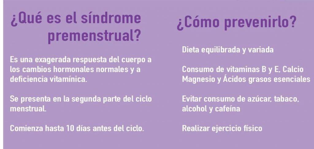 sintomas premenstruales que van y vienen