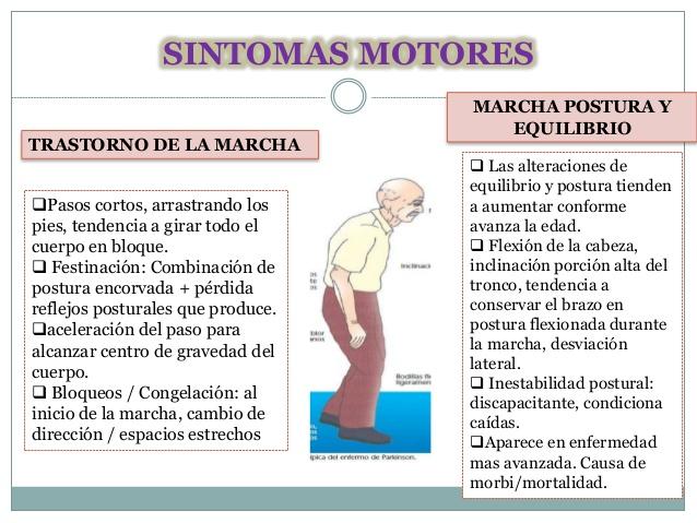 sintomas de mal del parkinson