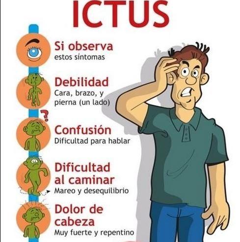 ictus cerebral sintomas previos