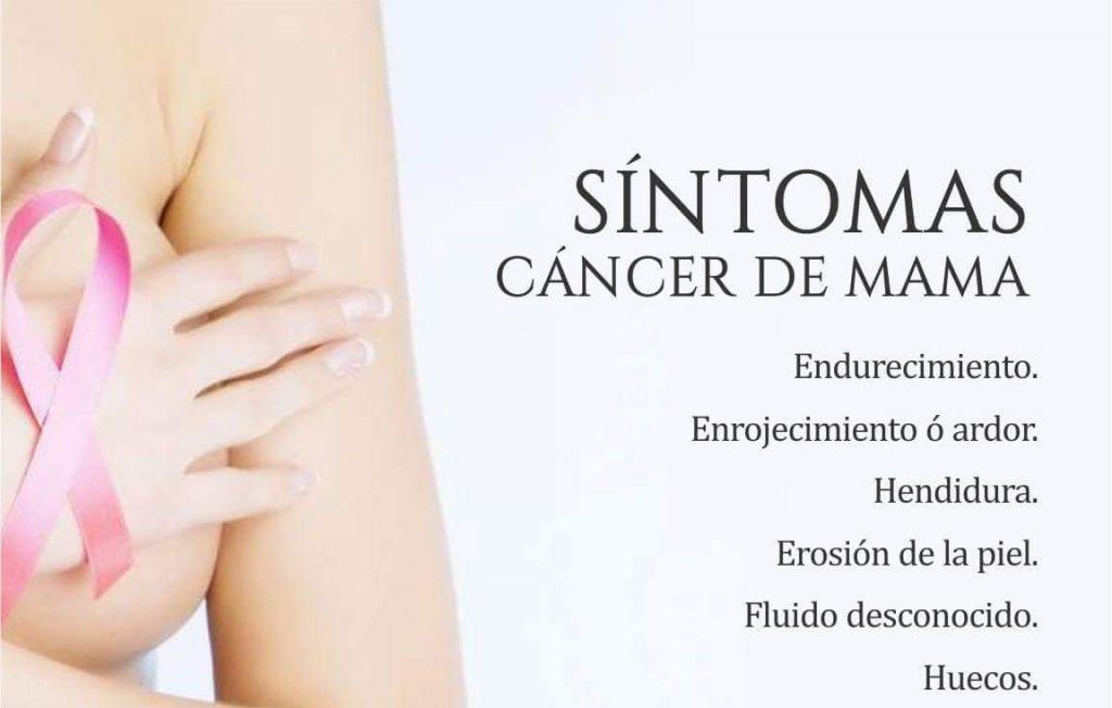sintomas cancer de mama ductal