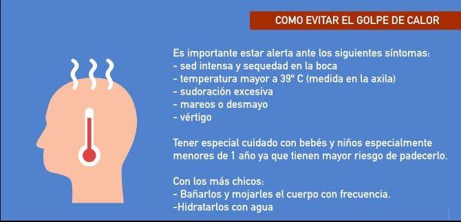 sintomas de golpe de calor en humanos