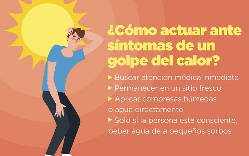 sintomas golpe de calor