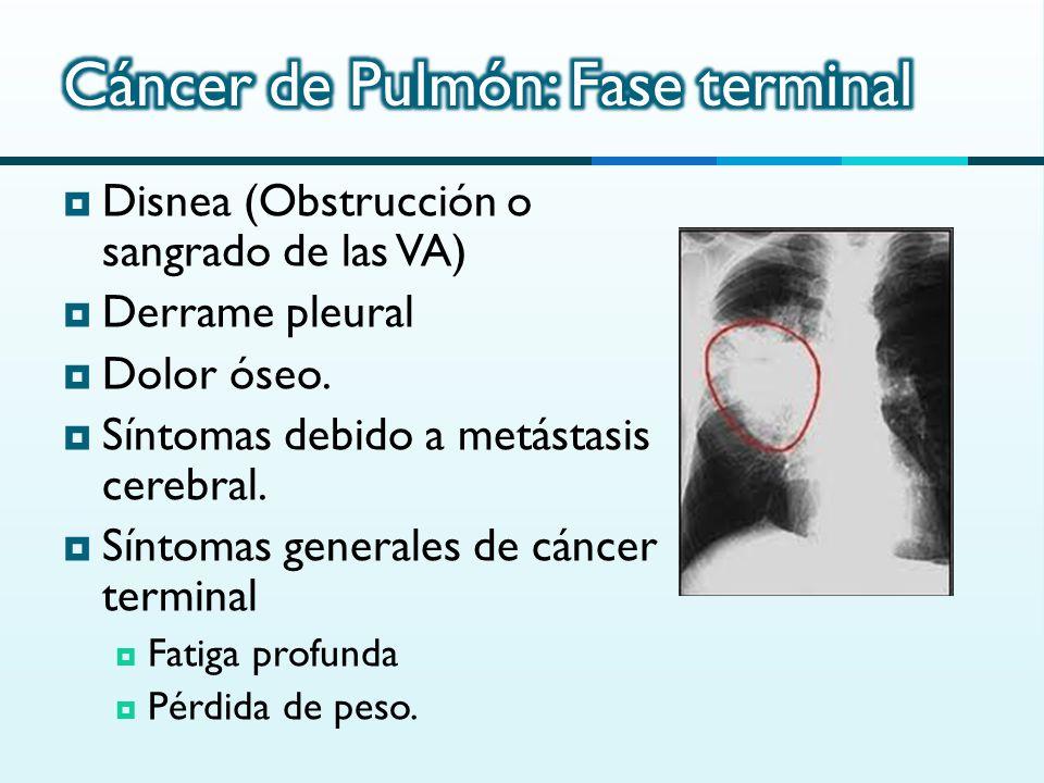 signos y sintomas de cancer de pulmon