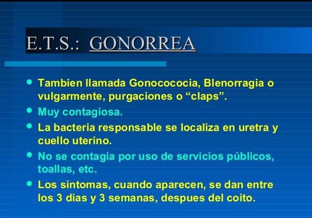 sintomas a gonorrea