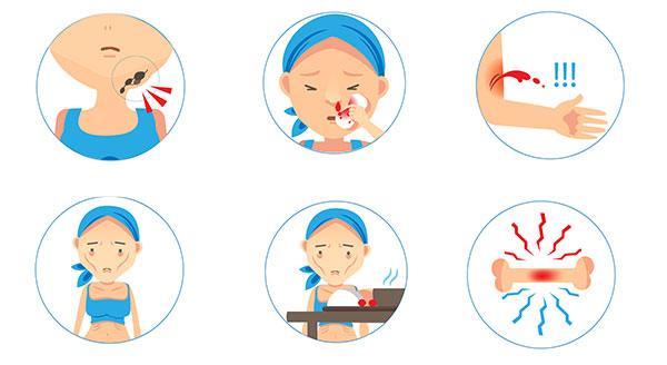 sintoma de leucemia infantil