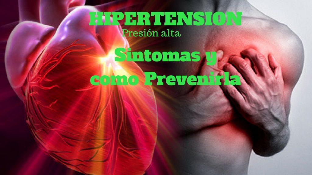 sintomas de tener tension arterial alta