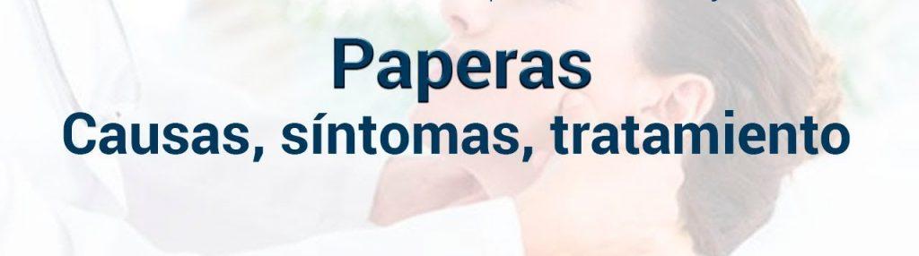 paperas bacteriana sintomas