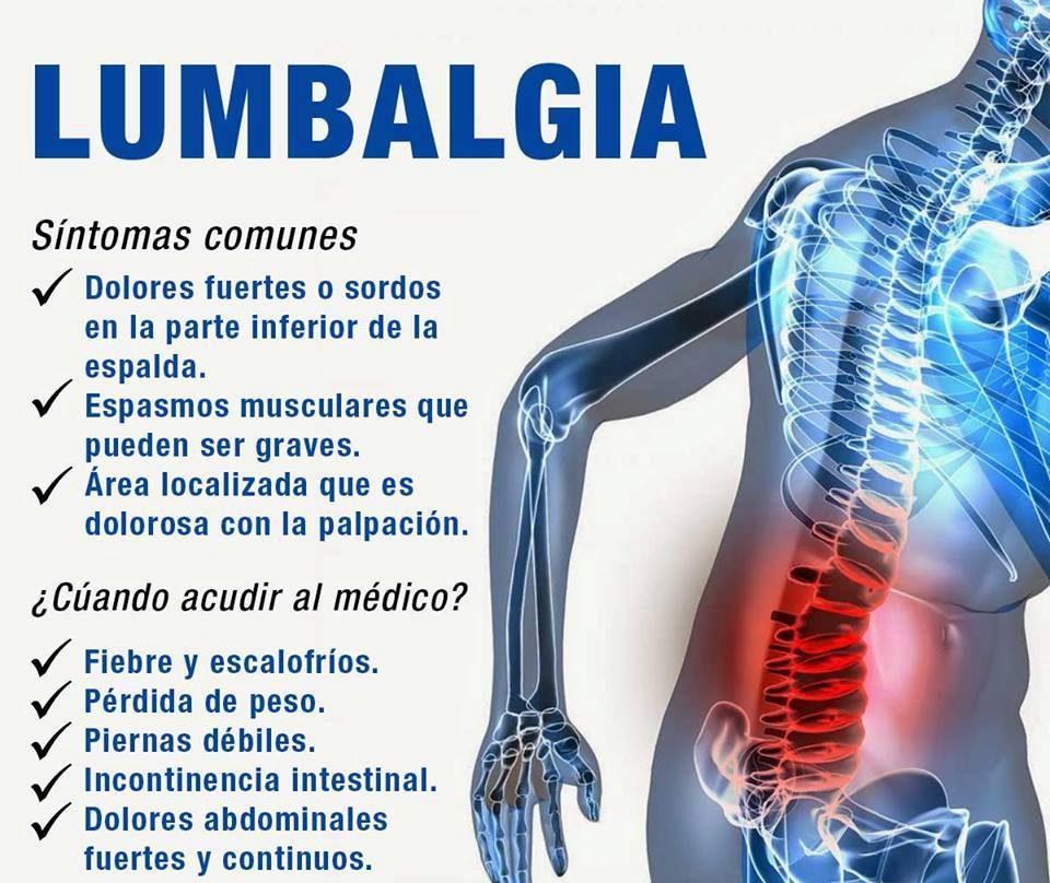 sintomas del dolor de lumbago