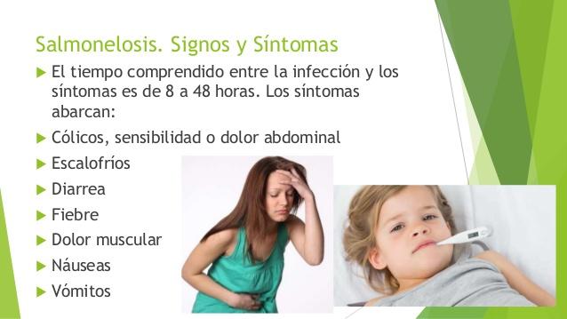 sintomas fiebre salmonelosis